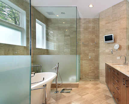 Flesk Glass - Bathroom Glass work