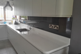 Flesk Glass black splashbacks