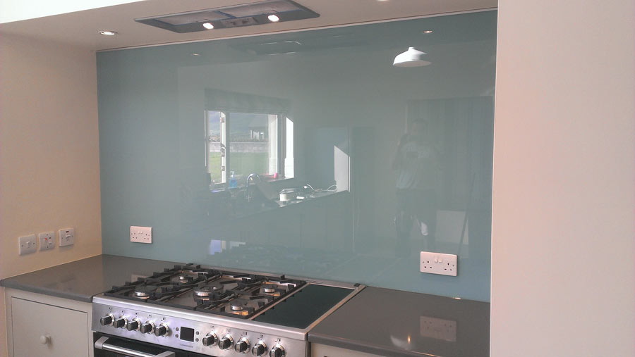 Flesk Glass blue splashbacks